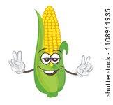 cute corn character. cartoon... | Shutterstock .eps vector #1108911935