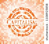 capitalism orange mosaic emblem   Shutterstock .eps vector #1108925858