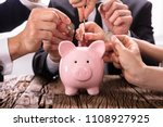 crowdfunding concept. people... | Shutterstock . vector #1108927925
