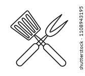 roasting utensil cutlery icon... | Shutterstock .eps vector #1108943195