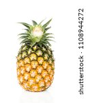 fresh pineapple on white... | Shutterstock . vector #1108944272
