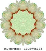 double layered guilloche floral ... | Shutterstock .eps vector #1108946135