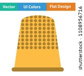 tailor thimble icon. flat color ... | Shutterstock .eps vector #1108956716