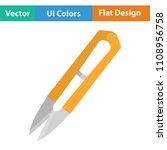 seam ripper icon. flat color...