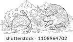 cartoon coloring book  ... | Shutterstock .eps vector #1108964702