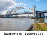 van brienenoord bridge in... | Shutterstock . vector #1108969238