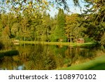 a trout fishing loch within the ... | Shutterstock . vector #1108970102