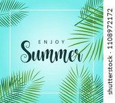 enjoy summer vector template... | Shutterstock .eps vector #1108972172