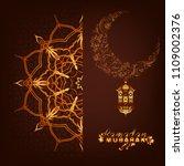 golden beautiful background.... | Shutterstock .eps vector #1109002376