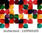 round square geometric shapes... | Shutterstock .eps vector #1109003105