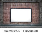 one blank billboard attached to ... | Shutterstock . vector #110900888