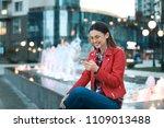 portrait of beautiful young... | Shutterstock . vector #1109013488