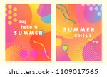 unique artistic summer cards... | Shutterstock .eps vector #1109017565
