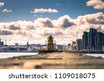 panoramic view of a pier in... | Shutterstock . vector #1109018075