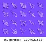 mouse cursor paper cut line...