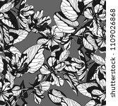 flowers seamless patern. hand... | Shutterstock . vector #1109026868