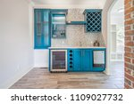 Stock photo remodeled new updated kitchen interior 1109027732