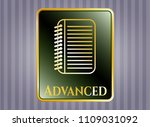 gold shiny badge with note... | Shutterstock .eps vector #1109031092