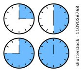 set of clock icons showing... | Shutterstock .eps vector #1109036768