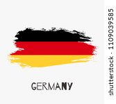 germany vector watercolor... | Shutterstock .eps vector #1109039585