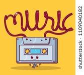 cassette character vector... | Shutterstock .eps vector #1109040182