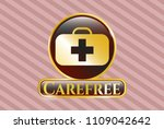 golden emblem or badge with... | Shutterstock .eps vector #1109042642