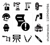 set of 13 simple editable icons ... | Shutterstock .eps vector #1109046986
