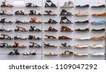 shoes stand on a showcase | Shutterstock . vector #1109047292
