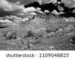 moon rising sonora desert in... | Shutterstock . vector #1109048825