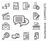 set of 13 simple editable icons ... | Shutterstock .eps vector #1109051672