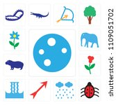 set of 13 simple editable icons ... | Shutterstock .eps vector #1109051702