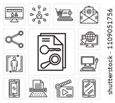 set of 13 simple editable icons ... | Shutterstock .eps vector #1109051756