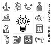 set of 13 simple editable icons ...   Shutterstock .eps vector #1109051792