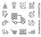 set of 13 simple editable icons ... | Shutterstock .eps vector #1109054726