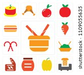 set of 13 simple editable icons ... | Shutterstock .eps vector #1109055635