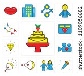 set of 13 simple editable icons ... | Shutterstock .eps vector #1109056682