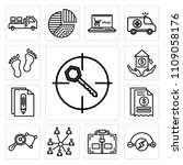 set of 13 simple editable icons ... | Shutterstock .eps vector #1109058176