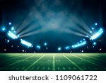lights at night and stadium 3d... | Shutterstock . vector #1109061722