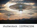 3d illustration. invasion of... | Shutterstock . vector #1109062106