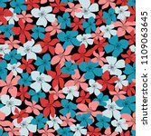 blossom floral seamless pattern.... | Shutterstock .eps vector #1109063645