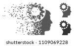 grey vector thinking gear icon...   Shutterstock .eps vector #1109069228