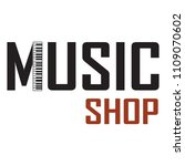 music shop label | Shutterstock .eps vector #1109070602