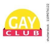 gay club label | Shutterstock .eps vector #1109076122