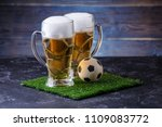 photo of two glasses of beer ... | Shutterstock . vector #1109083772