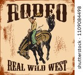 western rodeo vintage sign ... | Shutterstock .eps vector #1109084498