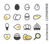 egg icon set | Shutterstock .eps vector #1109089808
