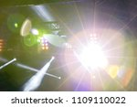 bright light ray from projector.... | Shutterstock . vector #1109110022