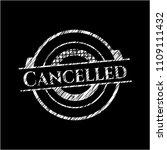 cancelled written on a...   Shutterstock .eps vector #1109111432