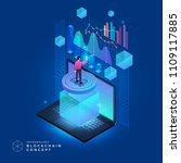flat design concept blockchain... | Shutterstock .eps vector #1109117885
