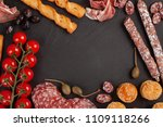 appetizers table with... | Shutterstock . vector #1109118266